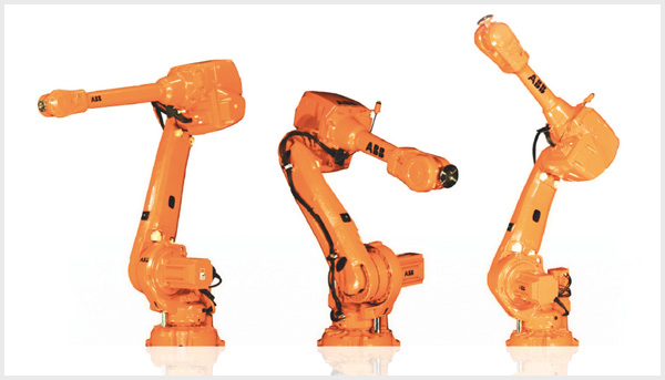 Three ABB robots